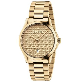 Gucci G-Timeless Ladies' Gold Plated Bracelet Watch - Product number 4963997