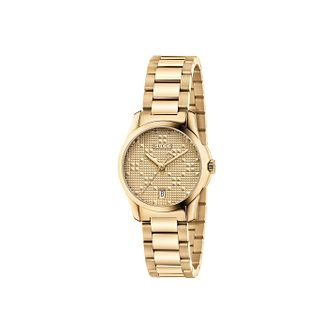 Gucci G-Timeless Ladies' Gold Plated Bracelet Watch - Product number 4964004