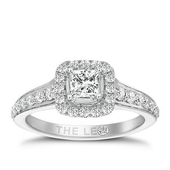 Leo Diamond 18ct White Gold 3/4ct II1 Diamond  Halo Ring - Product number 4969170