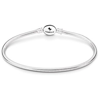 Chamilia Sterling Silver Oval Snap 7.9in Bracelet - Product number 4969499