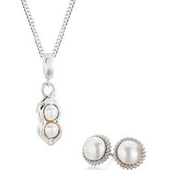 Chamilia Sterling Silver Pearl Earrings And Pendant Set - Product number 4969561