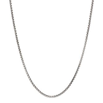 "Chamilia Oxidised Petite Box Chain Necklace 18"" - Product number 4969618"