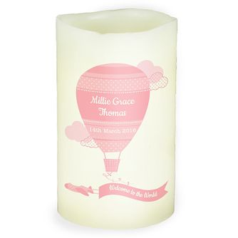 Personalised Up & Away Girls LED Candle - Product number 4969960