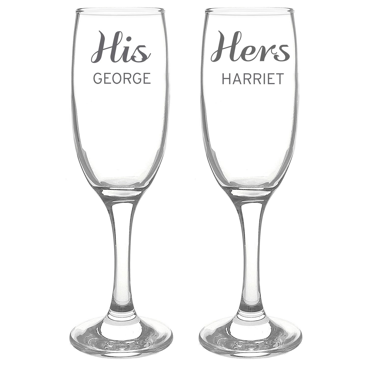 Personalised Classic Pair of Flutes - Product number 4970462