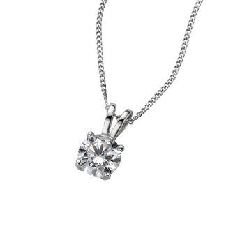 18ct white gold two third carat diamond pendant - Product number 4976126