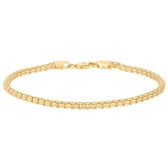 Esquire 14ct Yellow Gold Plated Sterling Silver Box Bracelet - Product number 4976428