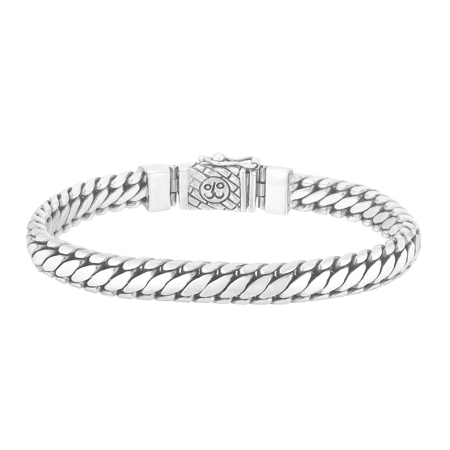 Esquire Sterling Silver Heavy Serpentine Link Bracelet - Product number 4976436