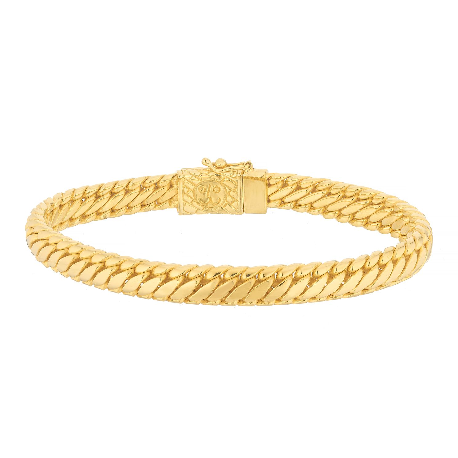 Esquire 14ct Gold Plated Heavy Serpentine Link Bracelet - Product number 4976444