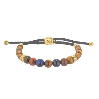 Esquire 14ct Gold Plated Tiger's Eye Adjustable Bracelet - Product number 4976460