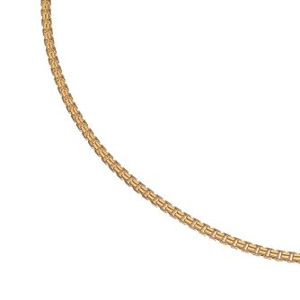 Esquire 14ct Yellow Gold Plated Sterling Silver Box Necklace - Product number 4976479