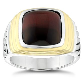 Esquire Two Tone Red Tiger's Eye Signet Ring - Product number 4976568