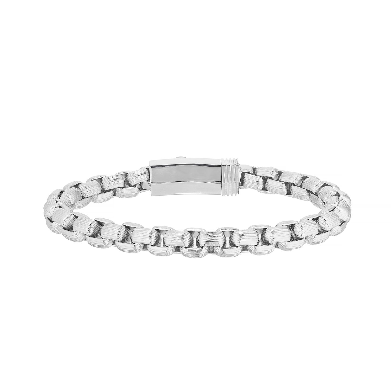 Esquire Stainless Steel Box Chain Bracelet - Product number 4977165