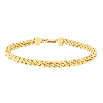Esquire Gold Tone IP Stainless Steel Foxtail Bracelet - Product number 4977335