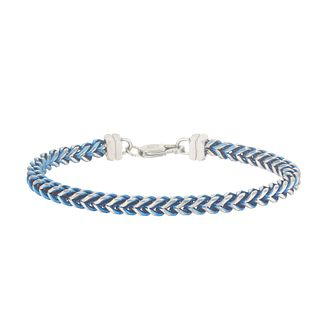 Esquire Blue IP Stainless Steel Foxtail Bracelet - Product number 4977351