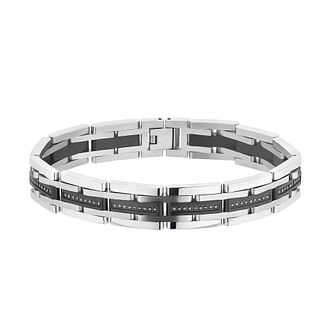 Esquire Two Tone 1/2ct Black Diamond Bracelet - Product number 4977432