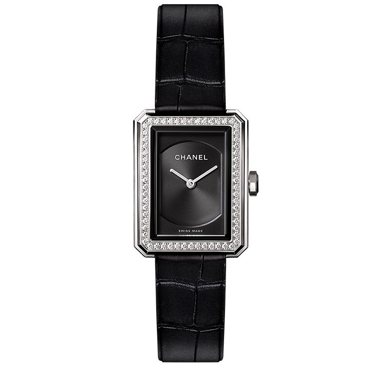 Chanel Ladies' Stainless Steel Stone Set Strap Watch - Product number 4980301