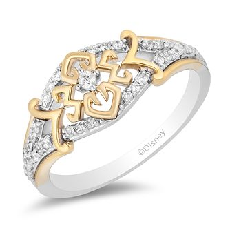 Enchanted Disney Fine Jewelry 0.20ct Diamond Mulan Ring - Product number 4980379