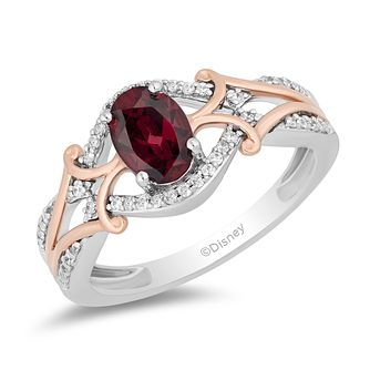 Enchanted Disney Fine Jewelry Garnet & Diamond Mulan Ring - Product number 4980654