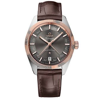 Omega Globemaster Constellation Men's Brown Strap Watch - Product number 4981294