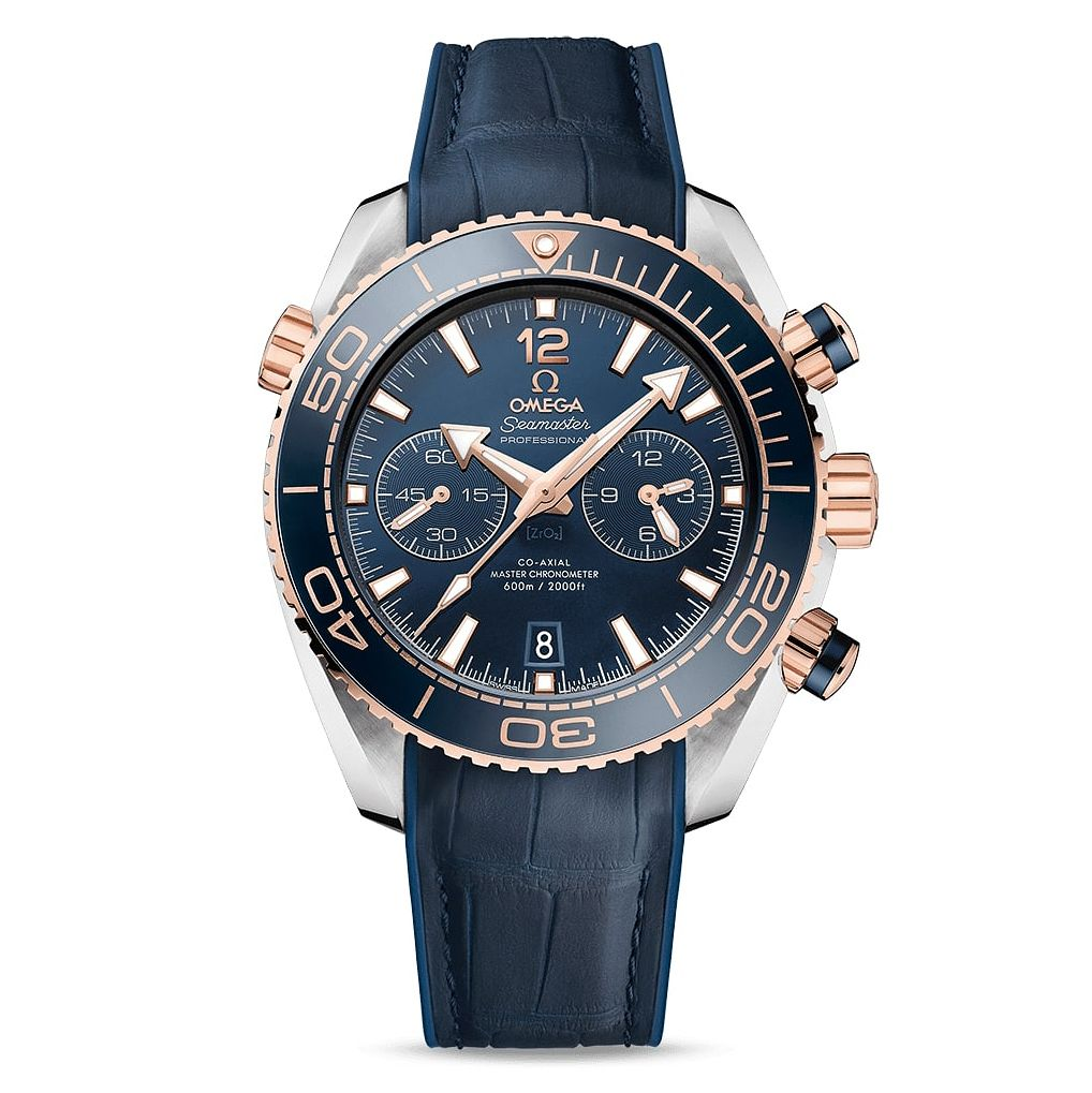 Omega Seamaster Planet Ocean Men's Blue Leather Strap Watch - Product number 4981308