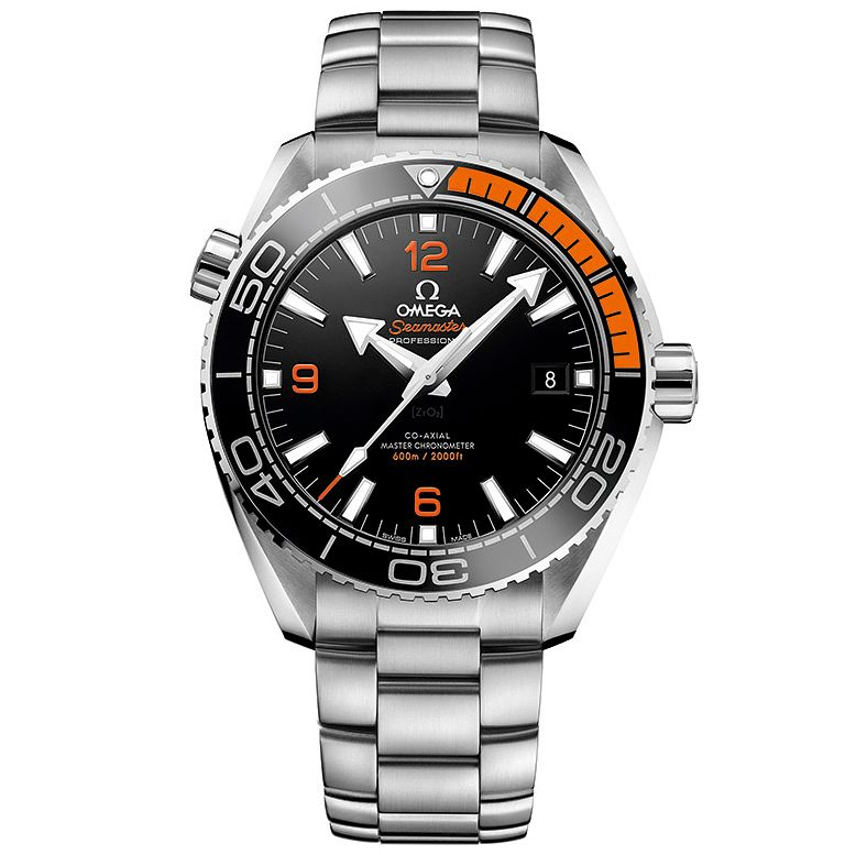 Omega Seamaster Planet Ocean Men's Steel Bracelet Watch - Product number 4981359