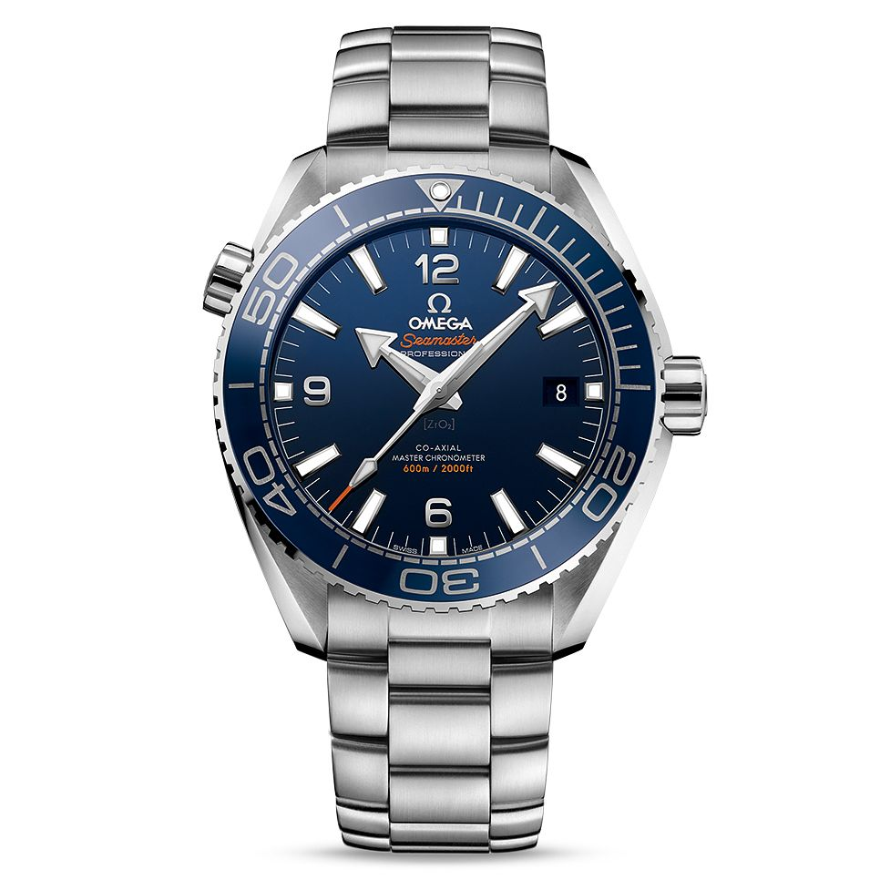 Omega Seamaster Planet Ocean Men's Steel Bracelet Watch - Product number 4981367