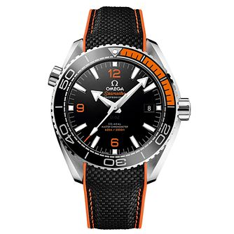 Omega Seamaster Planet Ocean Men's Black Rubber Strap Watch - Product number 4981413