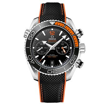 Omega Seamaster Planet Ocean Men's Black Rubber Strap Watch - Product number 4981421