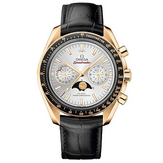 Omega Speedmaster Men's Black Leather Strap Watch - Product number 4981588