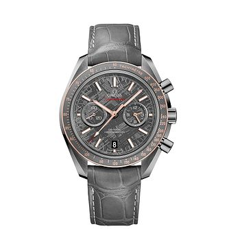 Omega Speedmaster Moonwatch Men's Grey Leather Strap Watch - Product number 4981596