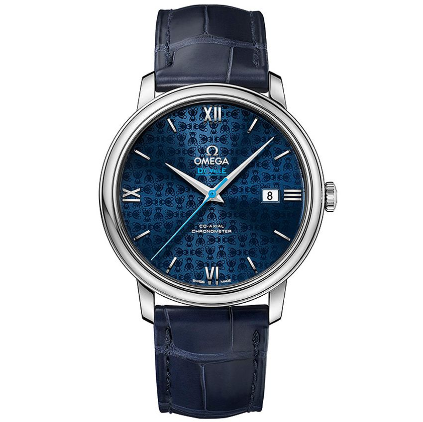 Omega Deville Prestige Orbis Men's Blue Leather Strap Watch - Product number 4981634