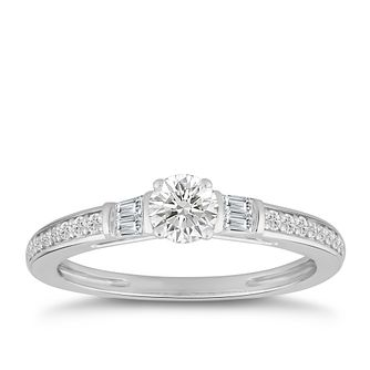 9ct White Gold 1/2ct Diamond Ring - Product number 4986806