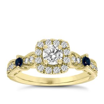 Vera Wang 18ct Yellow Gold 125ct Diamond Pear Halo Ring - Product number 4990366