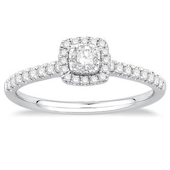 9ct White Gold 1/3ct Diamond Solitaire Ring - Product number 4990986