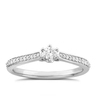 9ct White Gold 0.25ct Diamond Solitaire Ring - Product number 4993241