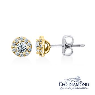 Leo Diamond 18ct Yellow Gold 0.50ct I I1 Diamond Earrings - Product number 4993950