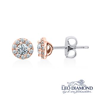Leo Diamond 18ct Rose Gold 0.50ct I I1 Diamond Earrings - Product number 4993969