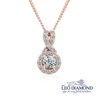 Leo Diamond 18ct Rose Gold 1/3ct I I1 Diamond Pendant - Product number 4994000