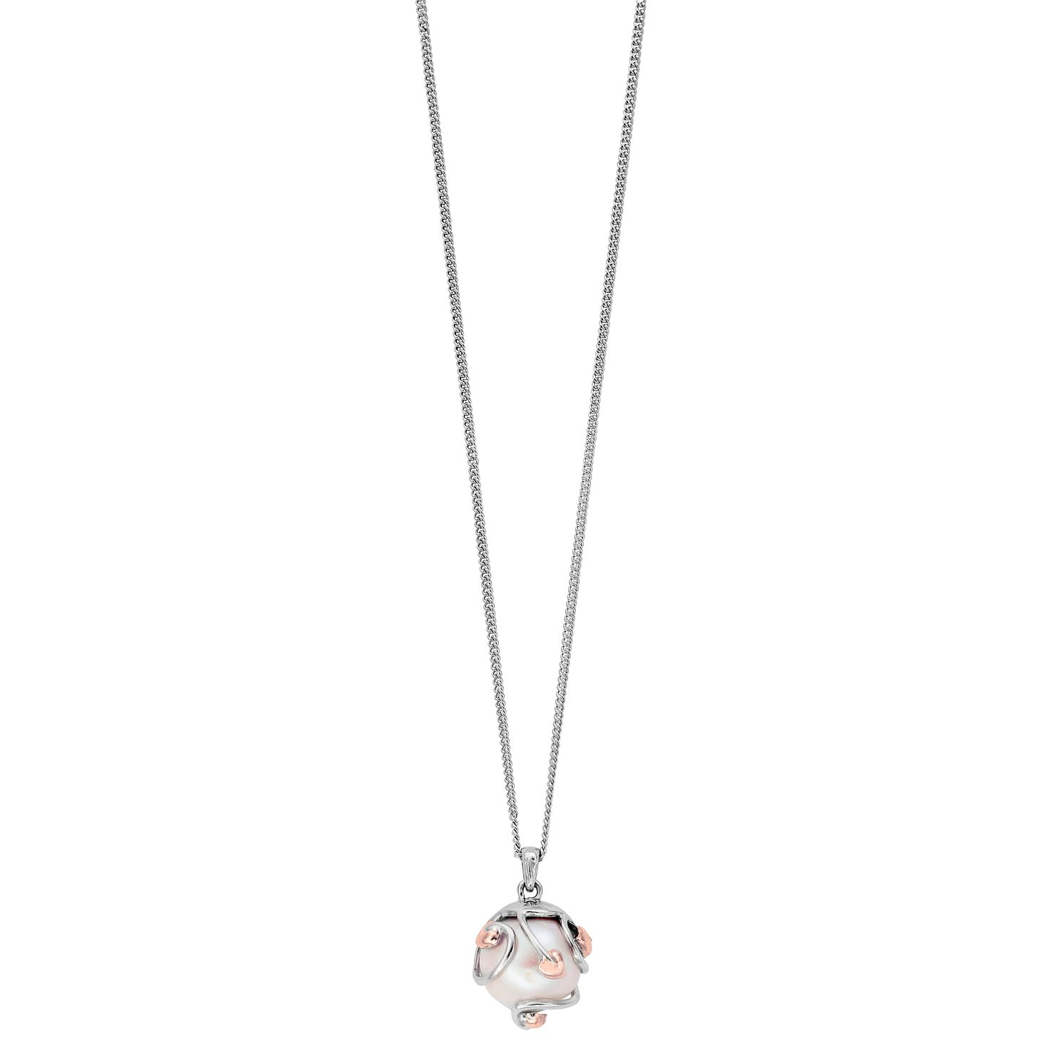 Clogau Silver 9ct Rose Gold Tree Of Life Pearl Pendant - Product number 4994965