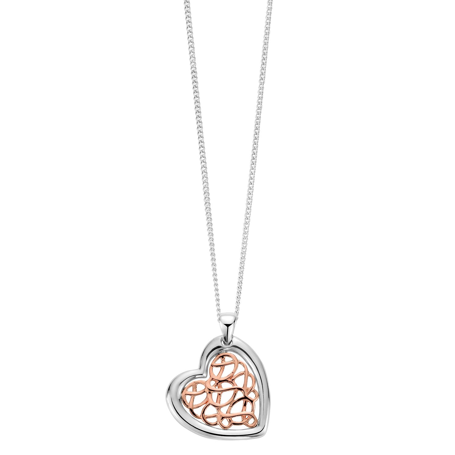 Clogau Silver 9ct Rose Gold Royal Heart Pendant - Product number 4995007