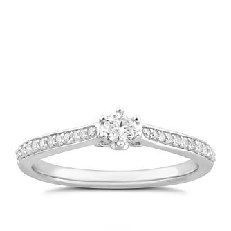 9ct White Gold 1/3ct Diamond Ring - Product number 4995198