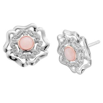 Clogau Silver 9ct Rose Gold Tudor Rose Earrings - Product number 4996321