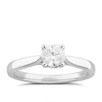 9ct White Gold 1/2ct Diamond Solitaire Ring - Product number 4996437
