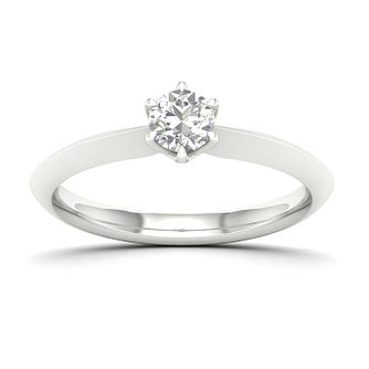 9ct White Gold 0.30ct Diamond Solitaire Ring - Product number 4997263