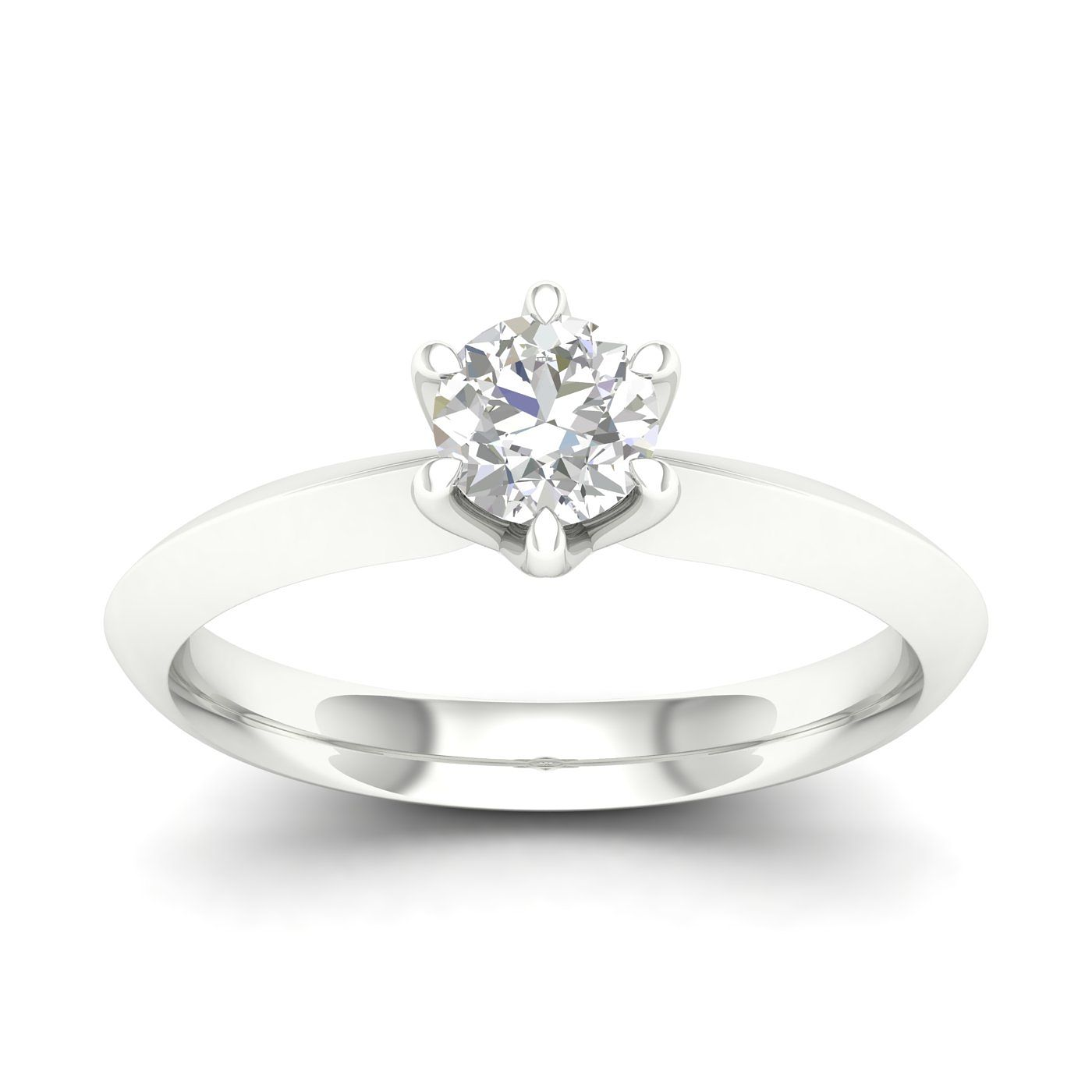 9ct White Gold 0.50ct Diamond Solitaire Ring - Product number 4997433