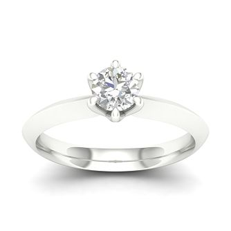 9ct White Gold 1/2ct Diamond Solitaire Ring - Product number 4997433