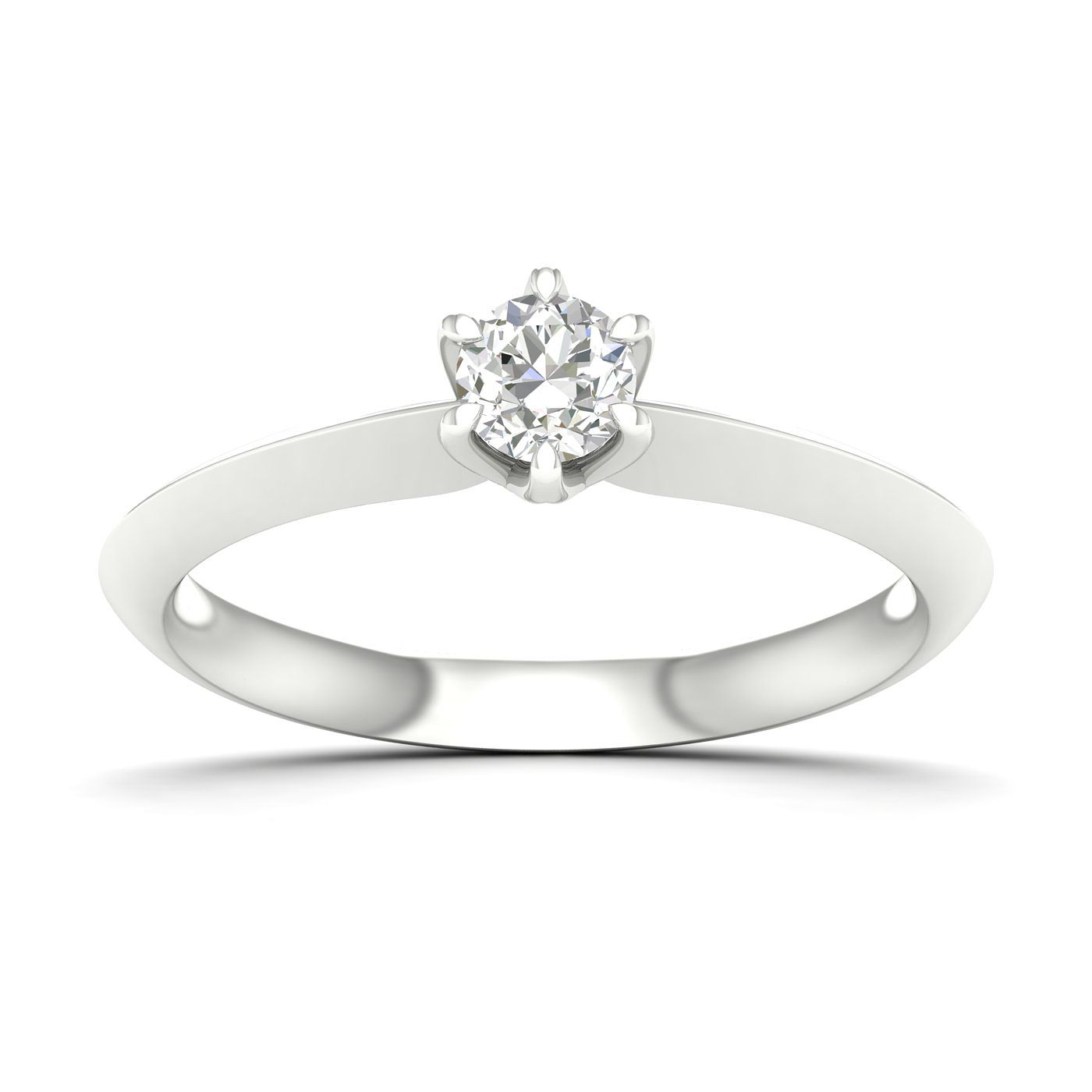 9ct White Gold 0.25ct Diamond Solitaire Ring - Product number 4998111