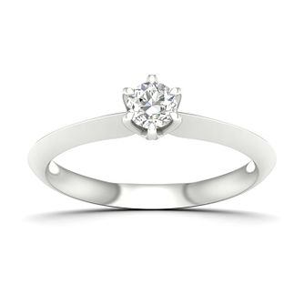 9ct White Gold 1/4ct Diamond Solitaire Ring - Product number 4998111