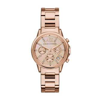 Armani Exchange Ladies  Rose Gold-Plated Bracelet Watch - Product number  4998472 39a9f61162