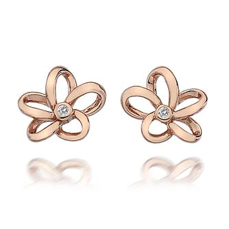 Hot Diamonds Rose Gold Plated Plumeria Stud Earrings - Product number 5000750
